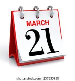 March Calendar - 3D rendering