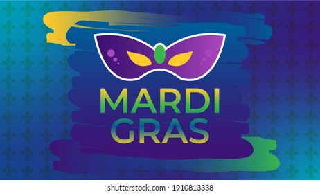 Mardi Gras or Fat Tuesday, Carnival celebration, beginning on or after the Christian feasts of the Epiphany (Three Kings Day) and culminating on the day before Ash Wednesday.Holiday poster.