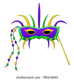 Mardi Gras mask isolated.