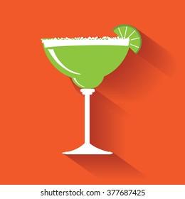 Margarita flat design icon.