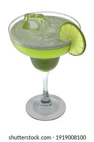 Margarita Glass 3D illustration on white background