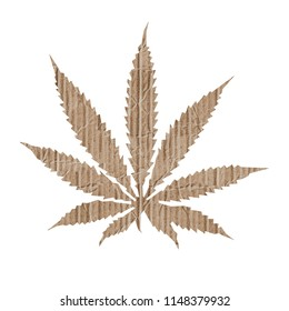 marijuana leaf isolated on white background 3d illustration