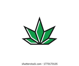 marijuana leaves idea logo icon symbol inspiration template