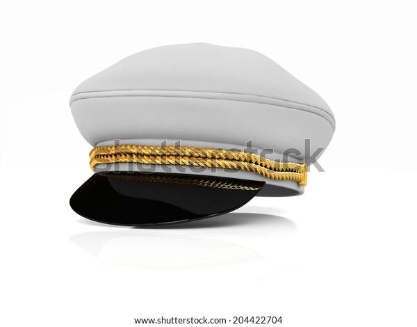 Marine cap on a white background
