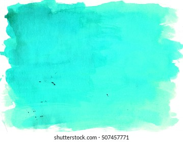Marine saturated watercolor background, luscious palette. Abstract canvas with paper texture.