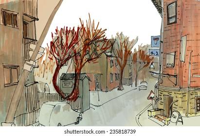 Marker street sketch