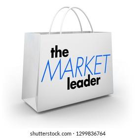 The Market Leader Top Performing Business Shopping Bag 3d Illustration
