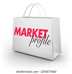 Market Profile Business Analysis Shopping Bag 3d Illustration