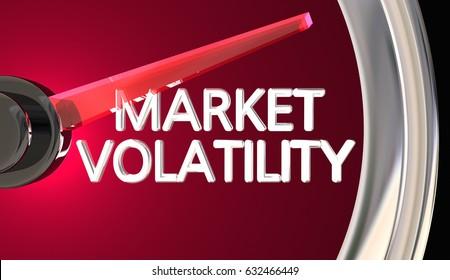 Market Volatility Gauge Speedometer Measure Risk Danger 3d Illustration
