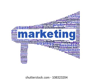 Marketing symbol isolated on white. Business management icon conceptual design