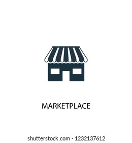 marketplace creative icon. Simple element illustration. marketplace concept symbol design from Crowdfunding collection. Can be used for web and mobile.