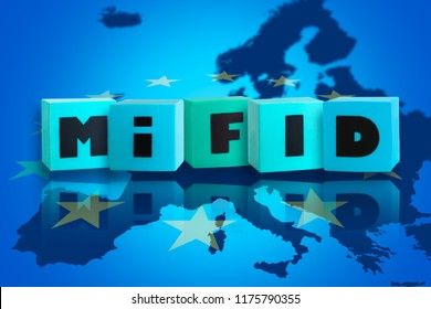 Markets in Financial Instruments Directive (MiFID II) - 3D illustration