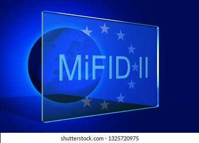Markets in Financial Instruments Directive (MiFID II), 3D illustration