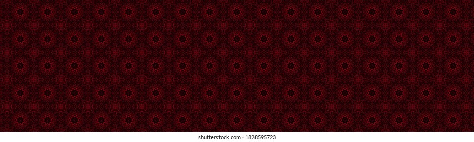 Maroon Abstract texture in geometric ornamental style. Seamless design.