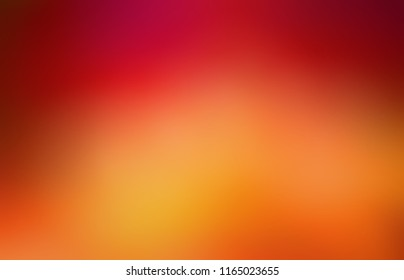 Maroon, red, orange, yellow gradient pattern. Vibrant autumn tint defocused illustration. Ripe berry or fruit colors abstract texture. Juicy empty background. Blurred template.