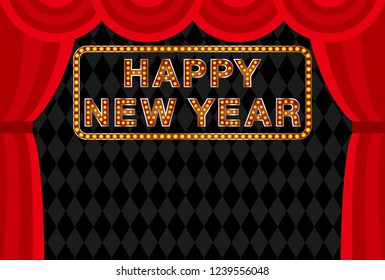 Marquee letters of Happy New Year