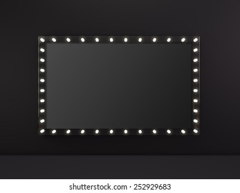 Marquee light empty board sign