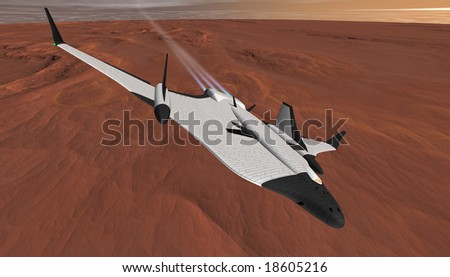 Mars Arrowhead Shuttle climbing to Low Orbit