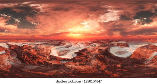 Mars, HDRI, environment map , Round panorama, spherical panorama, equidistant projection, 360 high resolution panorama, 3d rendering