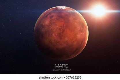 Mars - High resolution images presents planets of the solar system. This image elements furnished by NASA.