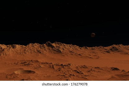Mars or moon surface