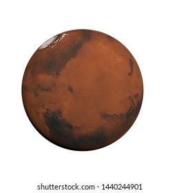 MARS PLANET. 3D ILLUSTRATION or 3D RENDER