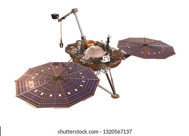 Mars probe - NASA's InSight lander - 3D Illustration