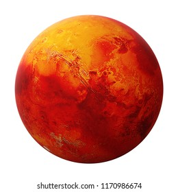 Mars, the red planet(3d space illustration, elements of this image are furnished by NASA)