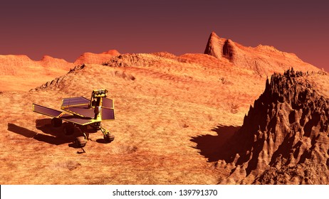 The Mars rover image on Mars