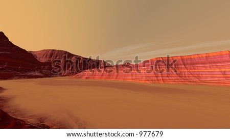 Mars Sand-filled Valley Floor