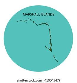 Marshall Islands Map Stock Illustration 410045431 - Shutterstock