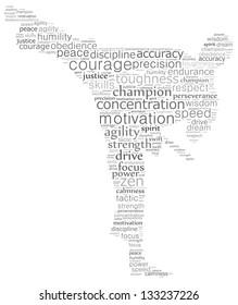 Martial artist text graphics