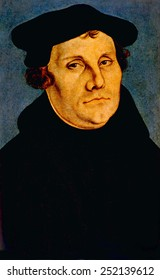 Martin Luther (1483-1546), portrait by Lucas Cranach, 1529