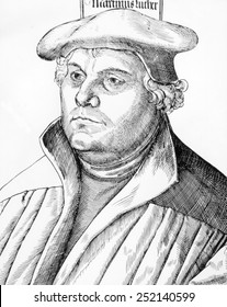 Martin Luther (1483-1546), woodcut by Hans Brosamer, 1530