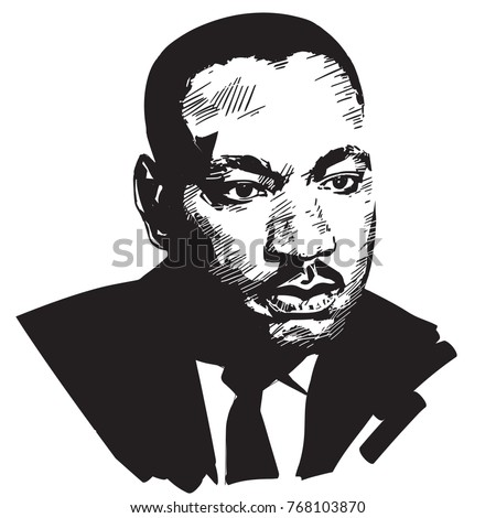 Royalty Free Stock Illustration Of Martin Luther King Black White