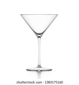 Martini cocktail glass isolated on white background. 3d illustration