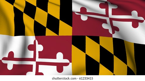 Maryland flag - USA state flags collection