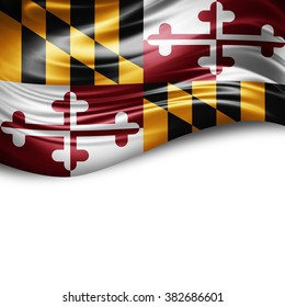 Maryland of silk with copyspace for your text or images and white background