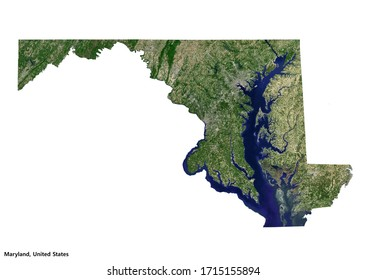 Maryland, United States Geography Map (3D rendering)