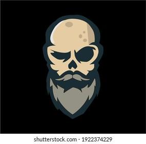 mascot logo of an elder thunder warrior