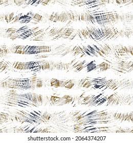 Masculine geometric glitch seamless pattern. Distorted navy blue white retro geo shape for men fashion. Modern retro light style design swatch. High resolution repeatable tile.