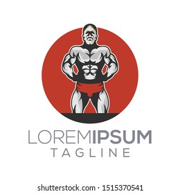 masculine gym and fitness logo design