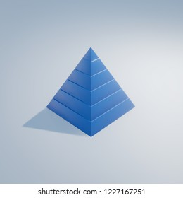 maslow's needs hierarchy 3d illustration