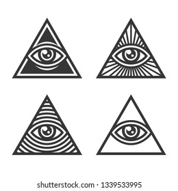 Masonic Illuminati Symbols, Eye in Triangle Sign.