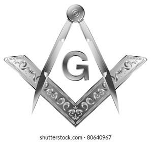 Masonic square and compass - raster version