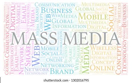 Mass Media word cloud.