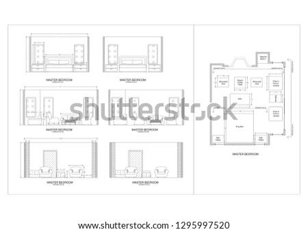 Royalty Free Stock Illustration Of Master Bedroom Elevation Stock