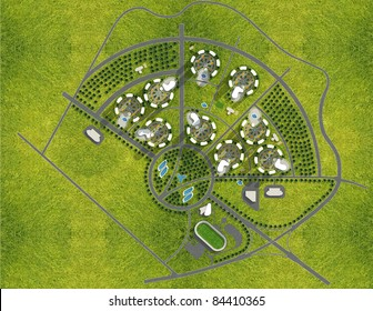 Master plan of new city