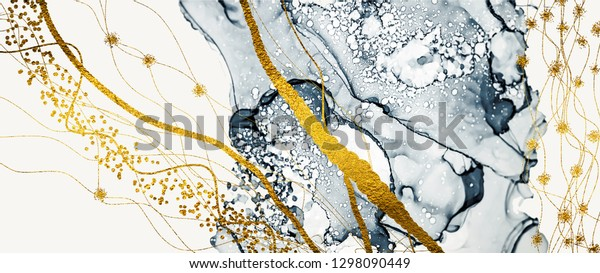 Abstract wall mural of clouds. Inspired by the sky, as well as steam and smoke. Ink colors are amazingly bright, luminous, translucent