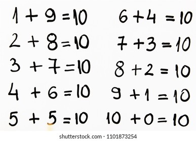 Math simple equation on white,image of a